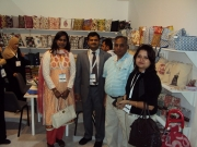 Visiting the exhibition stands